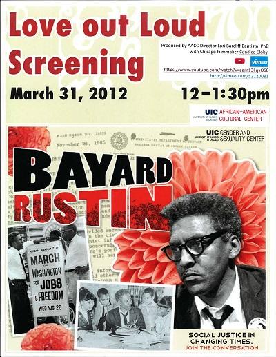 Bayard Rustin Love Out Loud