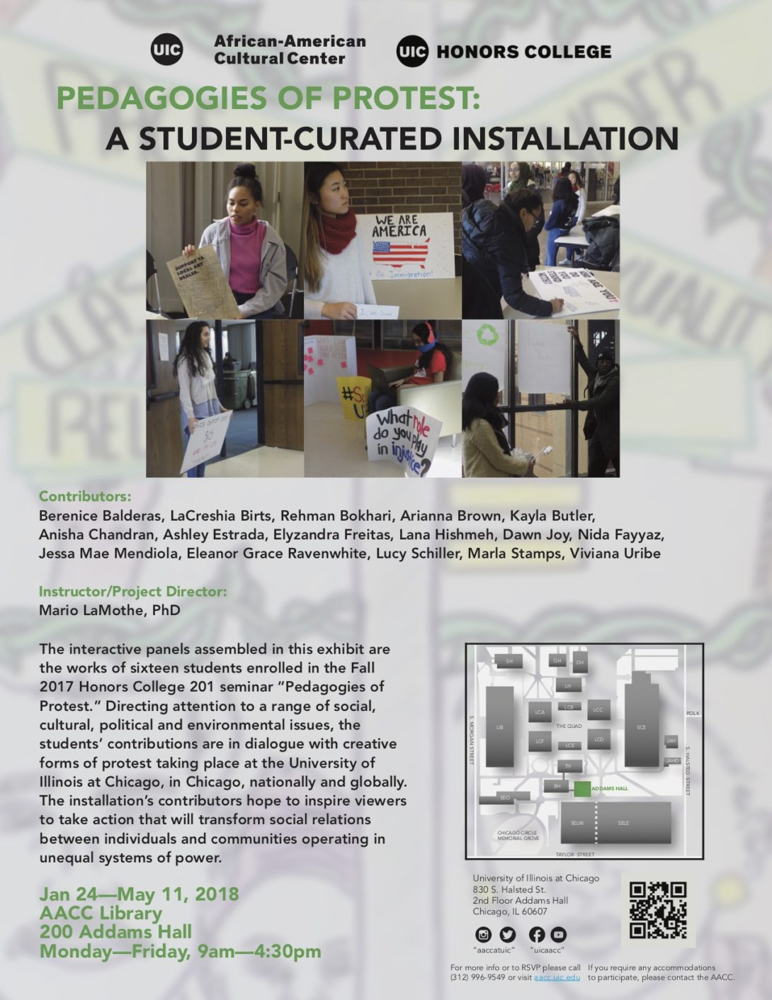 Pedagogies of Protest: A Student-Curated Installation