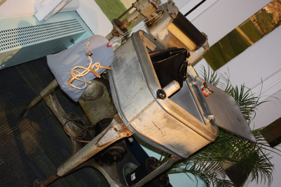 Potbelly Stove and Maytag Wringer Washer