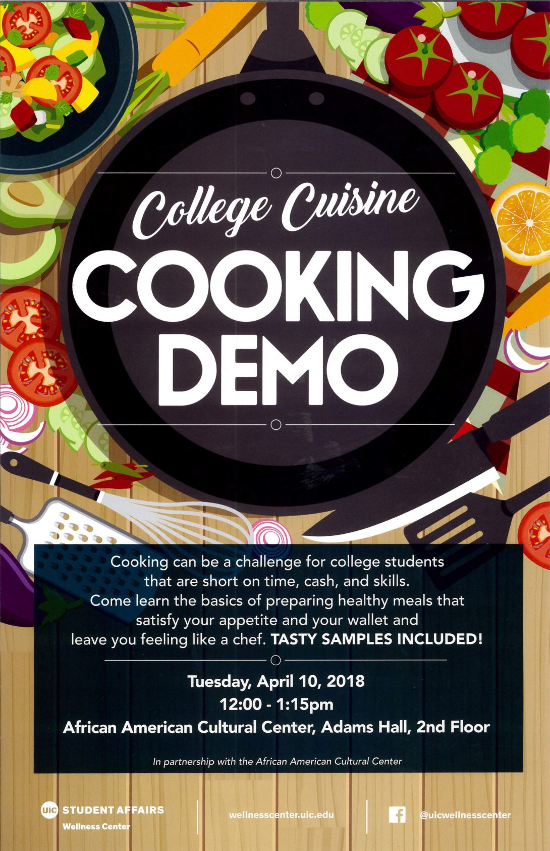 College Cuisine Cooking Demo