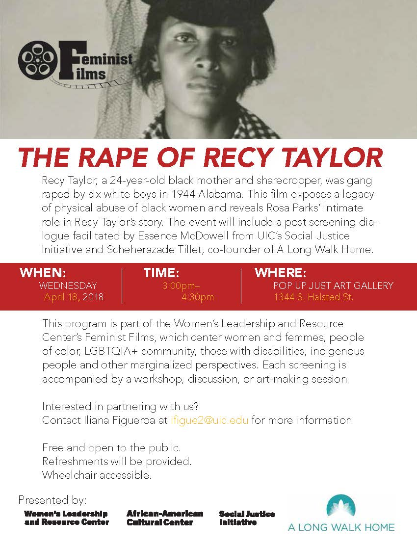 Recy Taylor Flyer
