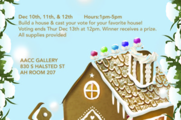 Gingerbread house making competition flyer