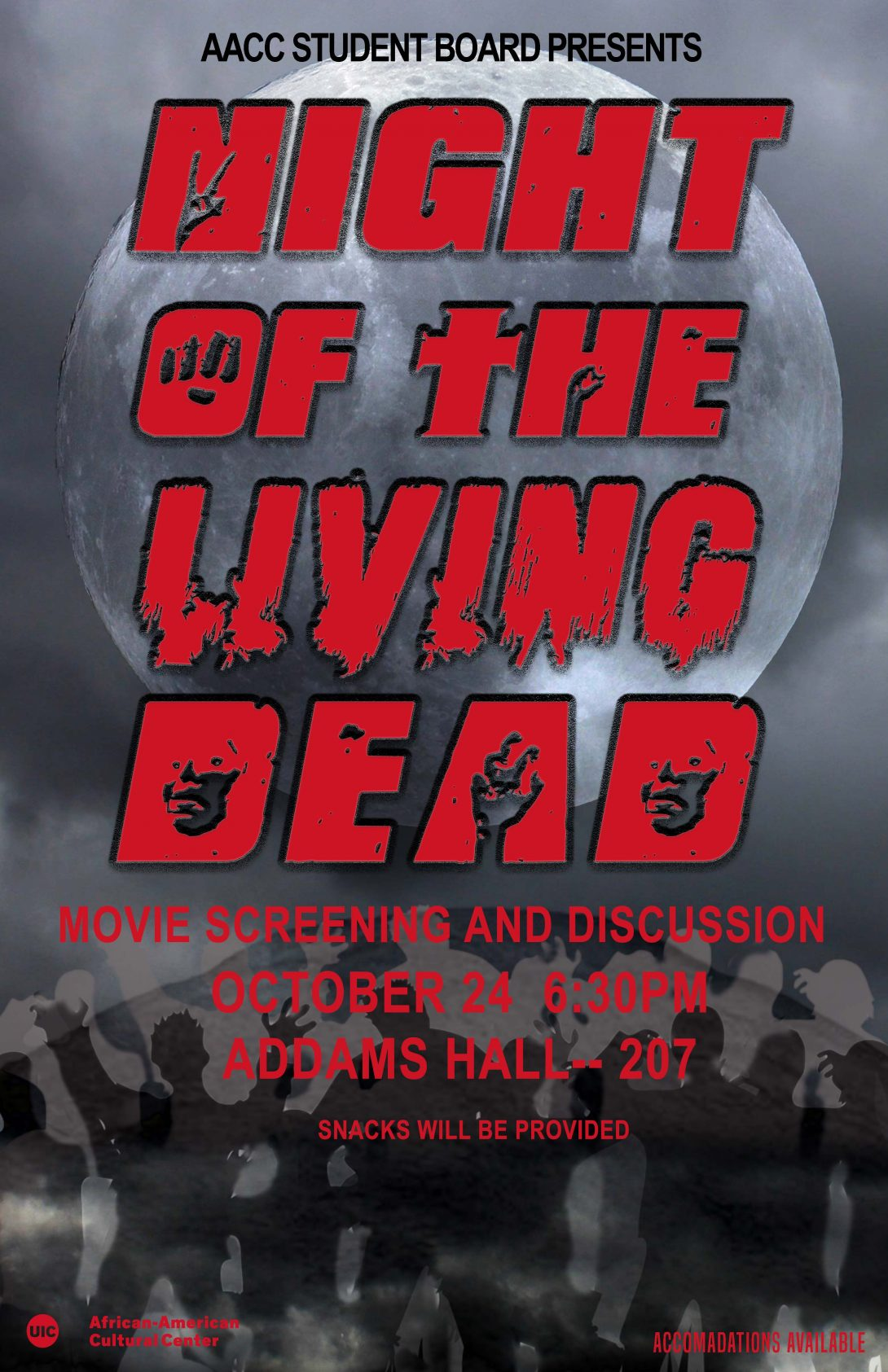 Night of the Living Dead flyer