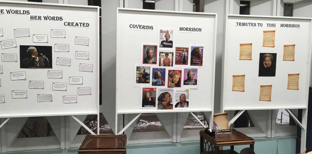 Toni Morrison Quote board, Magazine Collage, and Acknowledgments