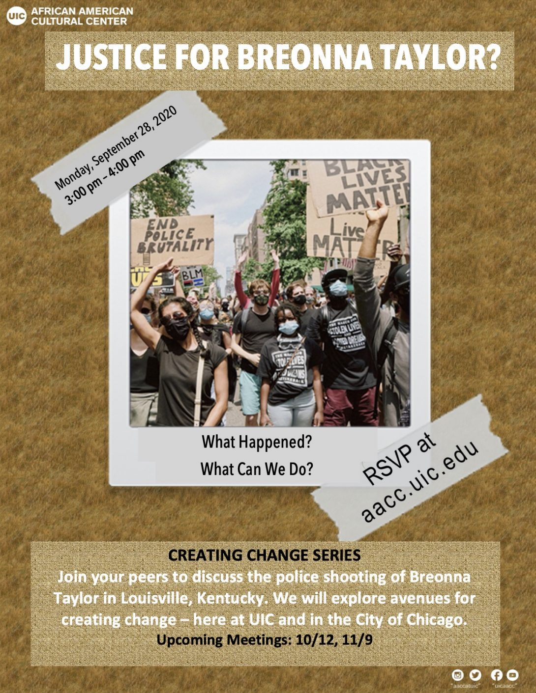 creating change series flyer