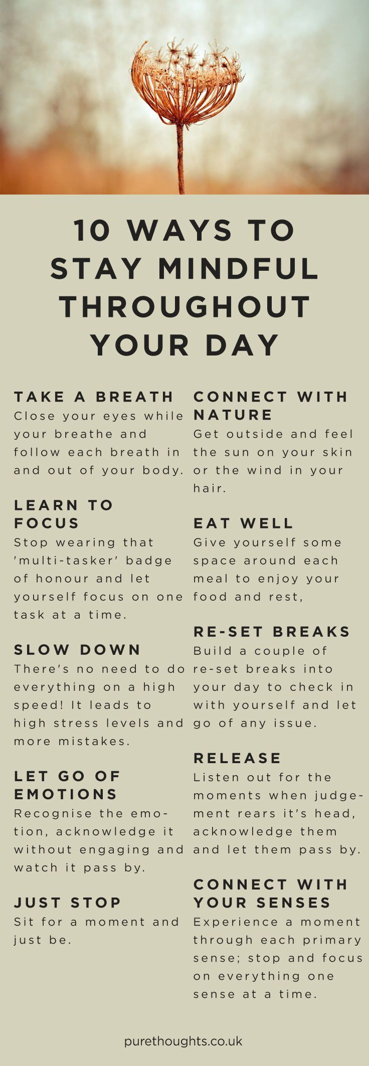 10 ways to stay mindful